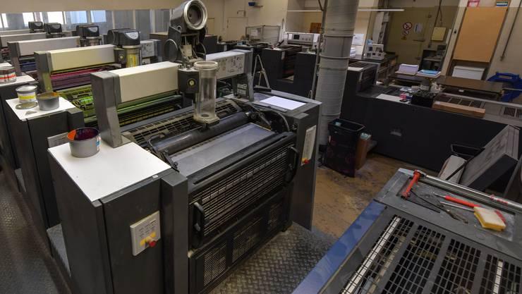 Das Aargauer Gewerbe leidet: Dazu gehören auch Druckereien.