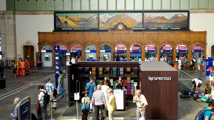 Der Pop-Up-Store steht noch bis 25. August in der Bahnhofs-Schalterhalle.