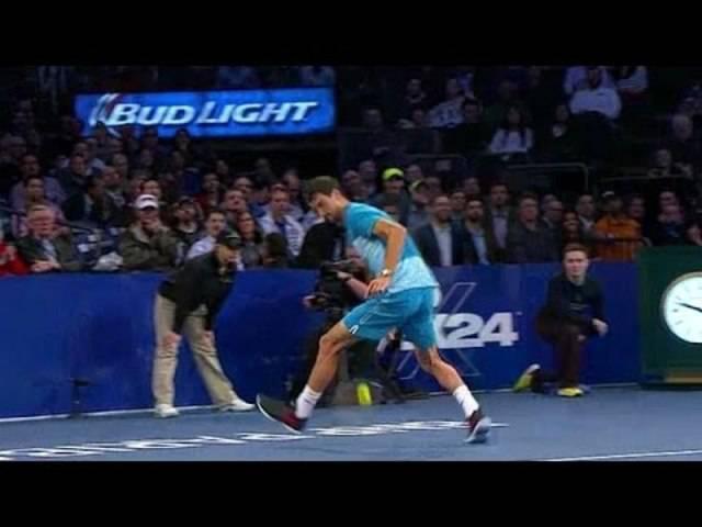 Federer und Dimitrov begeistern mit Tweener