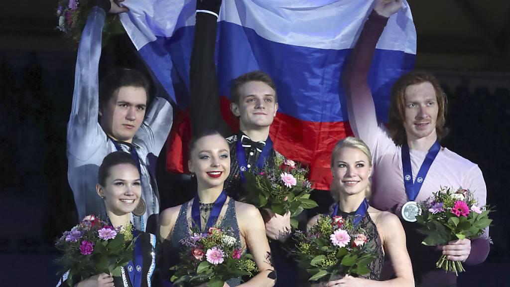 Rein russisches Podest im Paarlauf