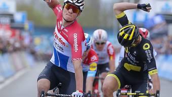 Mathieu Van der Poel (links im Trikot des niederländischen Strassen-Meisters) ist ein Multitalent auf zwei Rädern