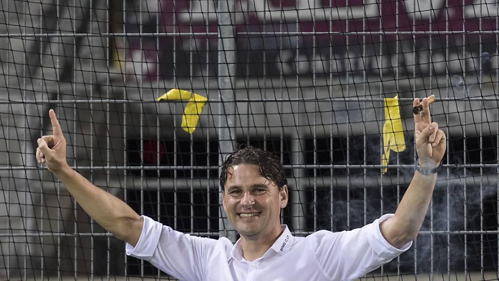 In Luzern sieht man eine triumphale Geste des Luzerners Gerardo Seoane, des YB-Trainers, vielleicht nicht so gern