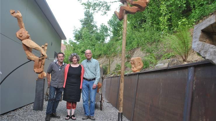 Martin Hufschmid, Anna Hufschmid, Daniel Glaser (von links).
