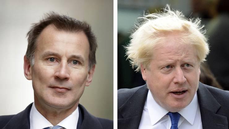Aussenminister Jeremy Hunt und ehemaliger Aussenminister Boris Johnson