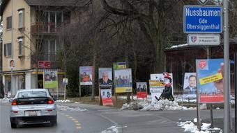 Der Gemeinderat hat definiert, wo Plakatwerbung erlaubt ist und wo nicht. Archiv/Wal