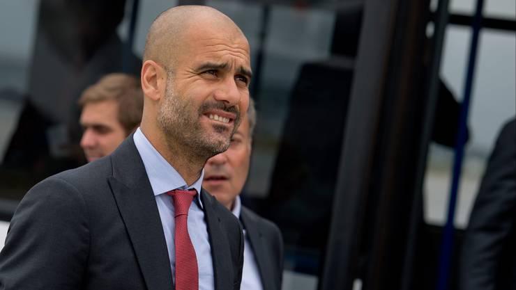 Bayern-Trainer Pep Guardiola soll 2016 bei Manchester City übernehmen.