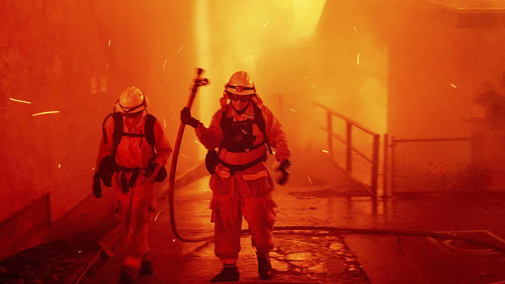 Swiss Re rechnet mit hohen Schäden aus Naturkatastrophen. (Archiv)