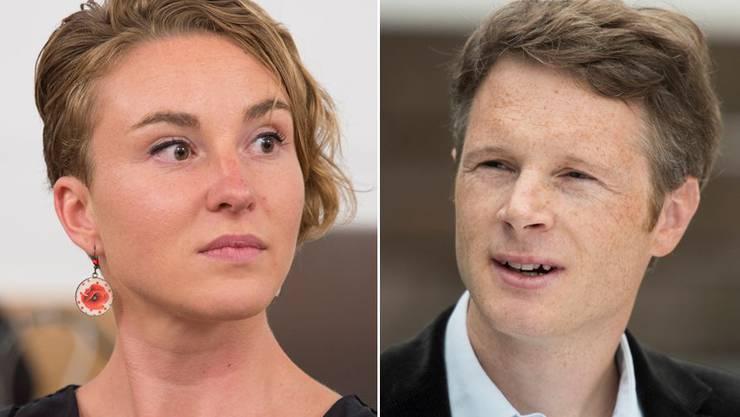 Irène Kälin und Jonas Fricker.