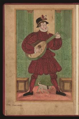 Ein Basler Lautenspieler. UB/zvg