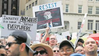 Kundgebung gegen Präsident Donald Trump – dank ihm gewinnen die Sozialisten an Zulauf. Kamil Krzaczynski/Epa