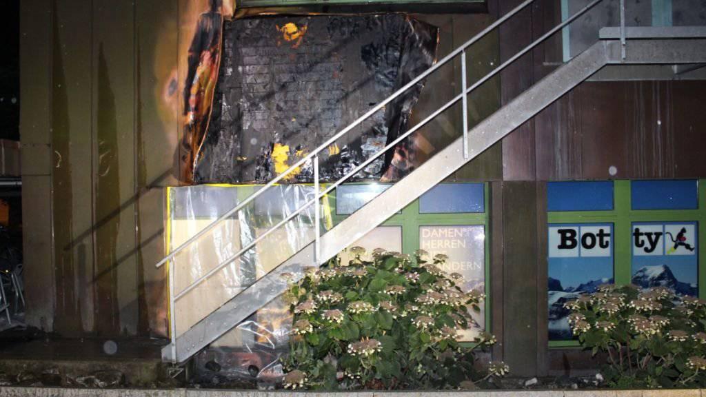 Brand am Bahnhof Glarus: Ursache und Höhe des Sachschadens sind unbekannt.
