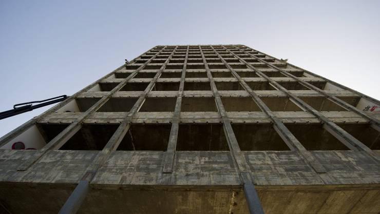 Das Rockwell-Gebäude wird in der Nacht auf Freitag gesprengt