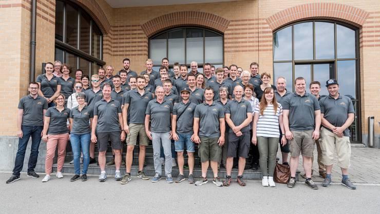 Team der von Rohr Holzbau AG auf Betriebsausflug