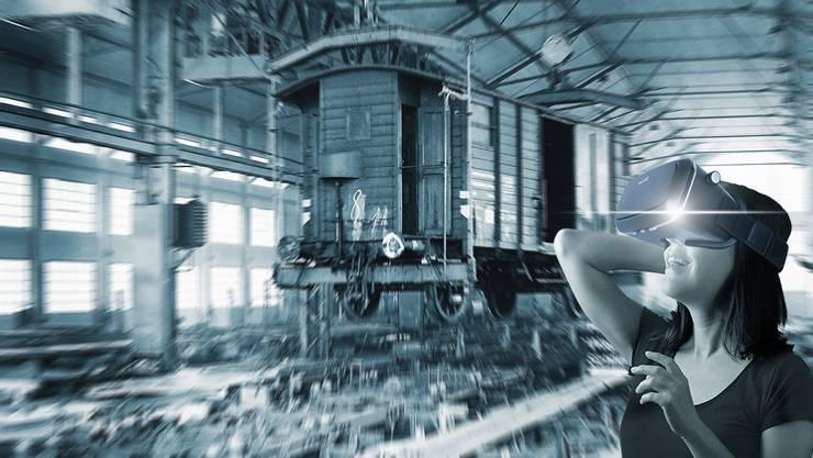 Dank Virtual Reality sollen Besucher künftig in die Gründerzeit der Wagonsfabrik Schlieren transportiert werden. ©HistoricSchlieren