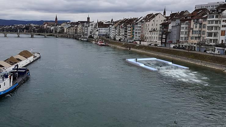 Surfen im Basler Rhein: So hätte die künstliche Welle aussehen sollen