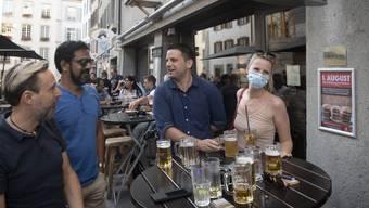 Nachtleben-Reportage in Corona-Zeiten in Aarau am 9. Juli 2020 (2)