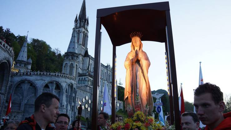 Lichterprozession in Lourdes