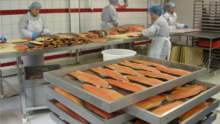 Lachs aus der Dyhrberg-Produktion in Balsthal war das erste Produkt der Fine-Food-Linie von Coop.