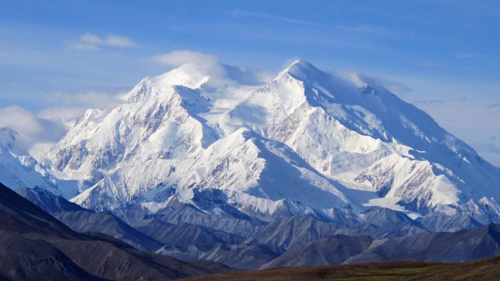 Sehr schwierig zu besteigen: Mount McKinley, der wieder in Denali umgetauft wird in Nordamerika