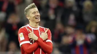 Bayern-Fussballer Robert Lewandowski zieht eine Zukunft als Rennfahrer ernsthaft in Betracht. (Archivbild)