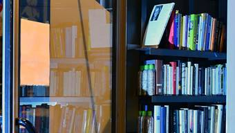 In einer Telefonkabine werden Bücher angeboten. (Archiv)