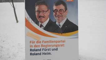 Verunstaltete Wahlplakate zwischen Solothurn und Rüttenen