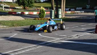 Fabio Scherrer gibt auf der Wohler Kartbahn Gas