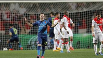 Hoffnung bei Arsenals Santi Cazorla nach dem 2:0