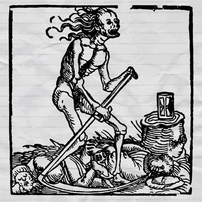 Mittelalterliche Darstellung des Schwarzen Todes.