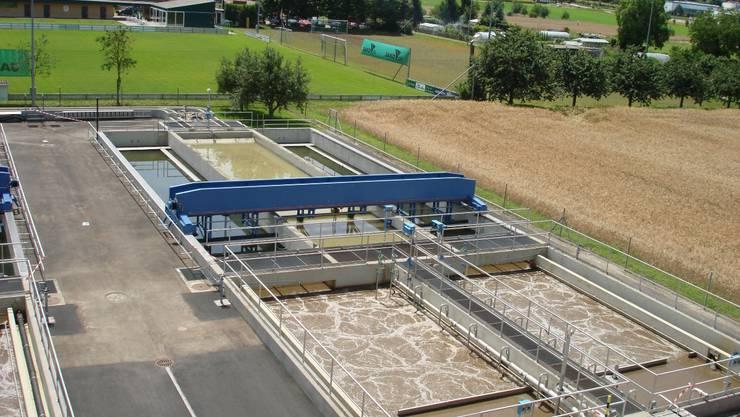 Die Abwasserreinigungsanlage in Bad Zurzach im Mai 2011. ZVG