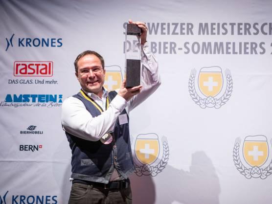 Martin Droeser bei der Siegerehrung.