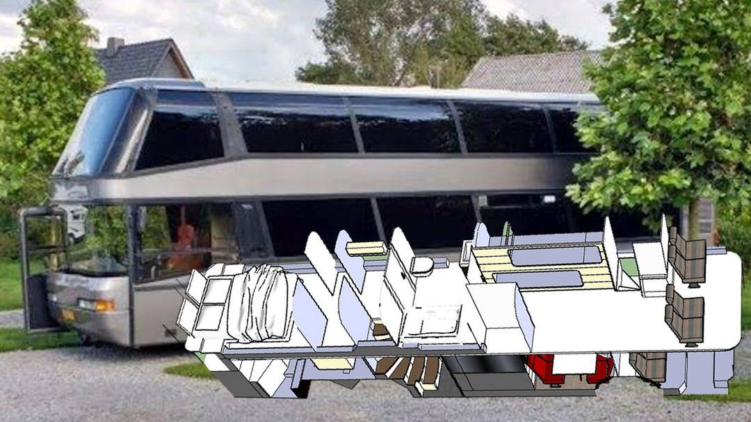 Vom Doppeldeckerbus zum Wohnmobil in 20 Schritten.