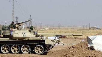 Kurdische Sicherheitskräfte bei Kirkuk (Archiv)
