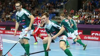 «Ich geniesse es. Schon nur die Möglichkeit zu haben, noch einmal etwas Grosses zu erreichen, fühlt sich toll an.»  - Matthias Hofbauer SV Wiler-Ersigen (links).