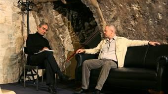Therapeut Salomon (Ernst C. Sigrist) und sein Patient Müller (Peter N. Steiner). ho