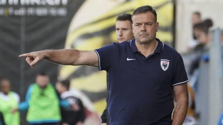 Patrick Rahmen ist seit Sommer 2018 Cheftrainer beim FC Aarau
