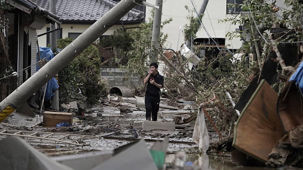 Trotz verheerenden Wirbelstürmen wie dem Taifun «Hagibis» in Japan sind die weltweiten Katastrophenschäden im laufenden Jahr markant kleiner ausgefallen als 2018. (Archiv)
