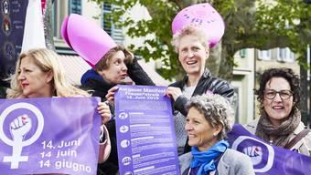 Das Aargauer Frauenstreik-Komitee ist breit abgestützt. Neben den Gewerkschaften unterstützen auch die Aargauer Landfrauen oder der katholische Frauenbund die Forderungen.
