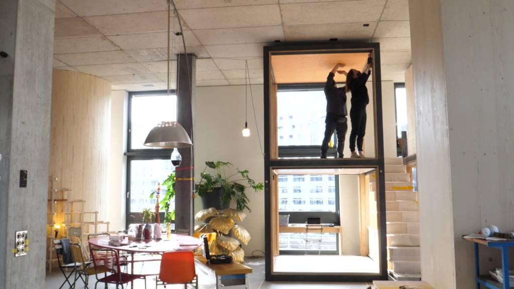 «Hallenwohnen» in Zürich: Viel Gemeinsames, wenig Privatsphäre