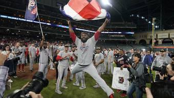 Die späte Erlösung. Die Washington Nationals feiern den Sieg in der World Series, der Finalserie der besten Baseball-Liga der Welt.