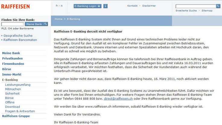(Screenshot: raiffeisen.ch)