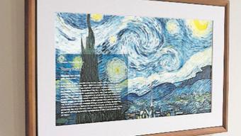 Es scheint wie ein normales Gemälde, ist aber ein Bildschirm: Kunst-Klassiker gibt es jetzt in digital.