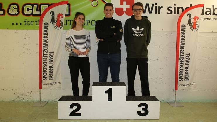 Von links: Pfistner Sina, Rosser David und Bertschi Pascal.
