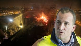 Feuerwehrkommandant Peter Wullschleger spricht im Interview zum Brand in Paris.