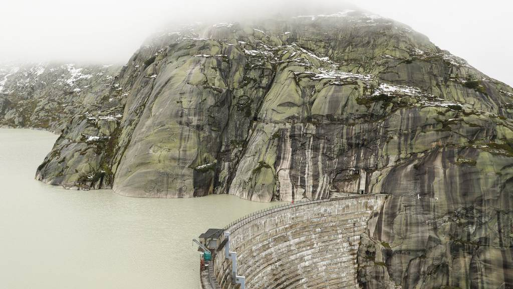 Die Schweizer Stauseen sind dieses Jahr schon im August gut gefüllt. Das Bild zeigt den Grimselsee im September 2017.