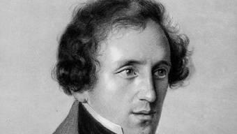 Zeichnung vom deutschen Komponisten Felix Mendelssohn