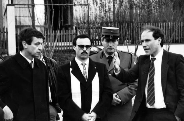 Grosser Fall für den damaligen Gerichtspräsidenten Stamm: 1989 sprach er Alfredo Lardelli des dreifachen Mordes schuldig und verurteilte ihn zu 20 Jahren Zuchthaus. Lardelli hatte 1985 in einr Wohnung in Station Siggenthal zwei Prostituierte und den Ehemann seiner Geliebten erschossen.