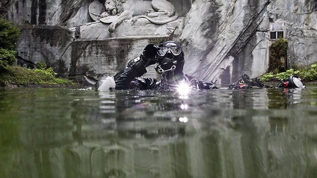 Am Samstag steigt sie wieder in den Teich beim Löwendenkmal: Tauchfotograifn Heidi Hostettler.