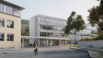 Schulhaus Bachtal in Ennetbaden - Visualierungen