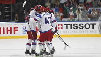 Die Russen feiern den Einzug in den WM-Final